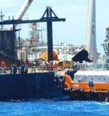 Salvage Operation Of Fire Stricken Oil Tanker