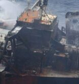 Oil Slick Spotted Near Fire-stricken Tanker
