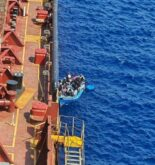 Three Migrants Rescued After Jumping off Stranded Tanker