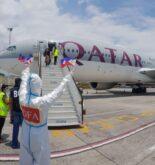 Qatar Airways Plane Bringing In Seafarers