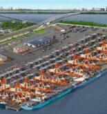India's first trans-shipment hub - Vallarpadam Terminal of Cochin Port,Kerala
