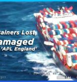 Video: 43 Containers Lost, 74 Damaged On Container Ship 'APL England' Due To Rough Weather