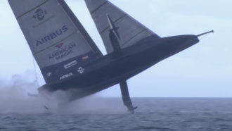 Video: America's Cup Racing Yacht Takes Flight, Then Capsizes