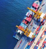 shipping port top down view