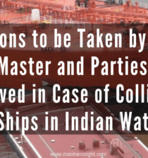 Actions to be Taken by the Master and Parties Involved in Case of Collision of Ships in Indian Waters