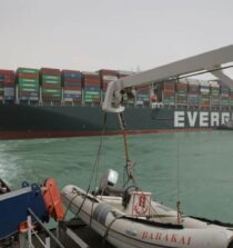 Evergreen Lines Ever Given Grounded In Suez Canal -