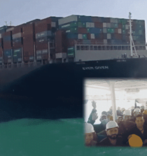 Watch: Suez Canal Dredging And Tug-Boat Crew Celebrates After Freeing MV Ever Given