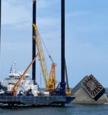 salvage preparing to refloat Seacor Power
