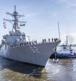USS Fitzgerald departure