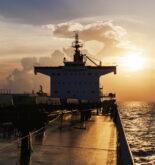 bulk carrier sunset