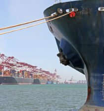 container ship port